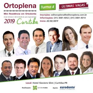 Ortoplena – Mini Residência em Ortodontia – Aulas teóricas e demonstrativas para especialista – Curitiba/PR 2019